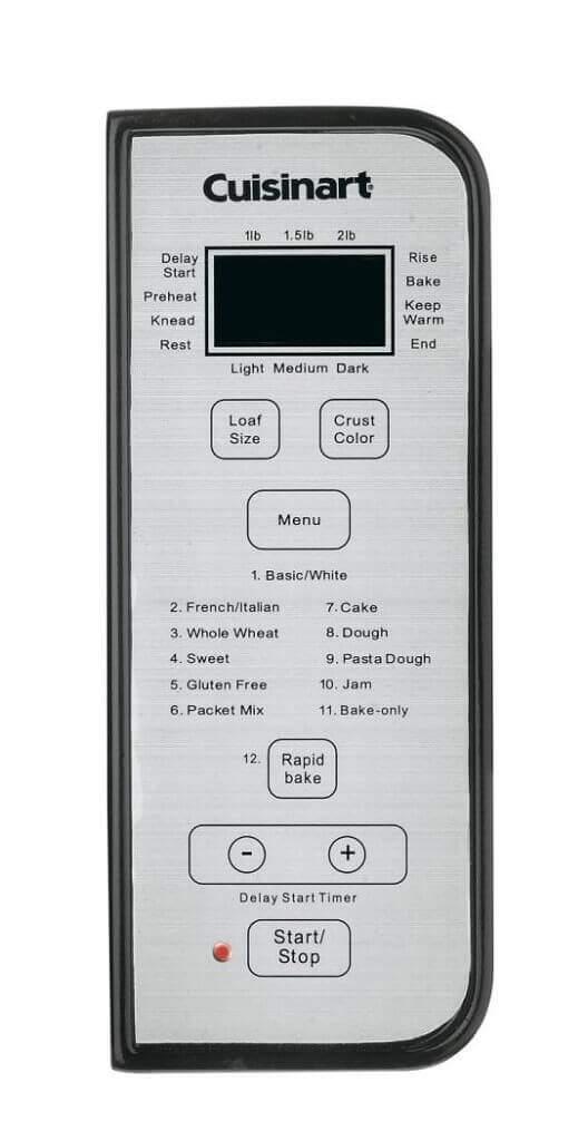 Cuisinart CBK-100 Control Settings