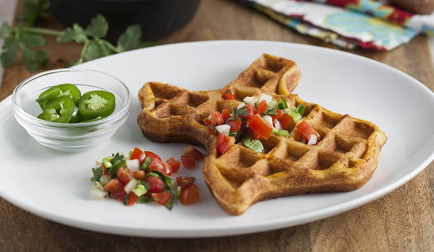 How to make Texas-shaped Belgian Waffles